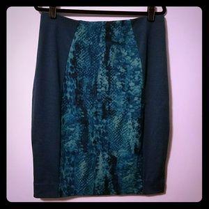 Sassy Mossimo teal blue green pencil skirt, XXL